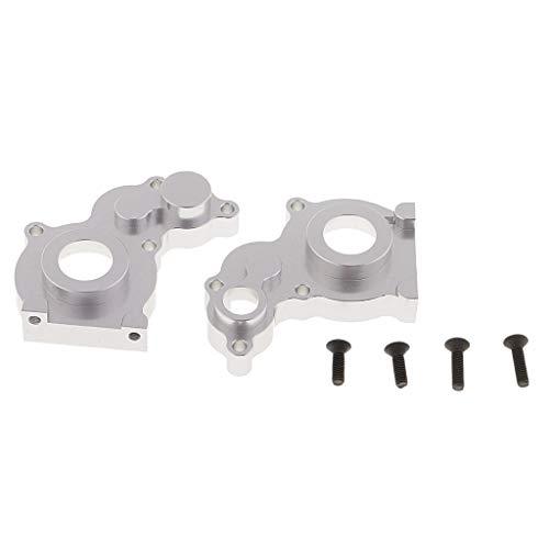 SM SunniMix Boîtier de Transmission en Aluminium Accessoire Améliorés pour Voiture RC 1/10 - Argent