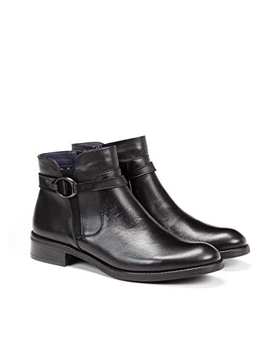 Earth D8003 Sugar Black Ankle Boots