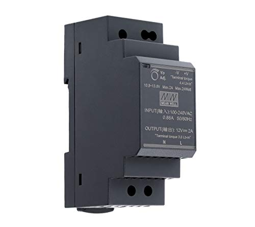 12 VDC   2 A   24 Watt   Mean Well HDR-30-12 Hutschienen-Netzteil DIN-Rail