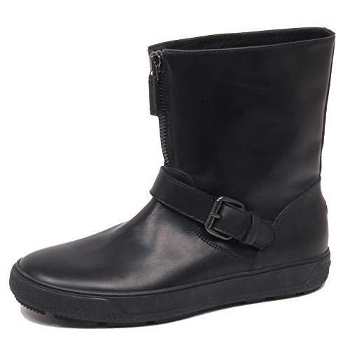 Moncler F1176 Stivaletto Uomo Black Scarpe Leather Boot Shoe Man [43]