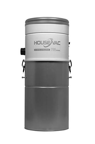 HouseVac Aspirapolvere centrale HV-700ST-35H | Potenza di aspirazione 700 AirWatt, potente motore Ametek – 1700 W | 2 turbine | Sistema Soft Start Stop | Filtro ciclonico ibrido
