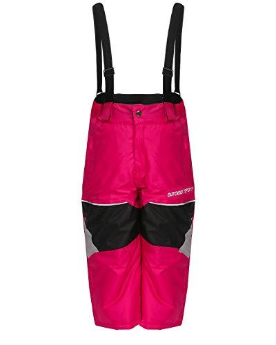 ZARMEXX Skihose Kinder Thermohose Jungen Mädchen Outdoor Snowboardhose Schneehose Winter pink 128