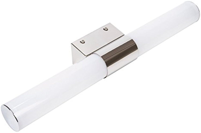 Lightsjoy 12W LED Spiegelleuchte Spiegellampe Bad 60cm Warmwei Schminklicht Wandleuchte Badzimmer Badleuchte Wand Badlampe für Spiegel Warmwei