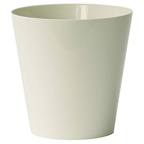 EURO3PLAST Vase Clivo a2575 cm 14 x 14 h Elfenbein