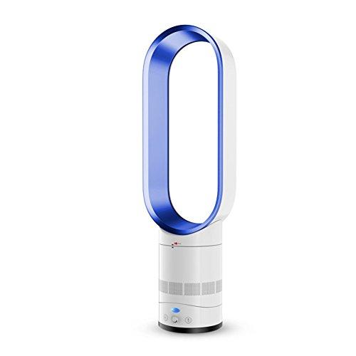 Raffreddatore d Aria,radiatore Aria Ventola Bladeless,condizionatore d Aria Ventola Raffredamento Sicurezza di Ioni Negativi Ventilatore A Torre,Ventilatore Muto-Blu 16inch