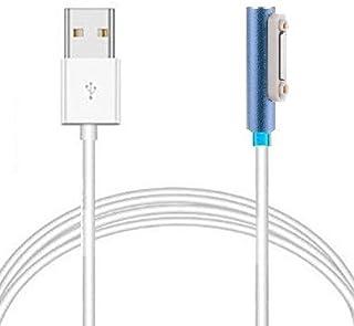 Access【100cm】 マグネット充電ケーブル for Sony xperia Z1/Z2/Z3 に対応 チャージングケーブル LED付き エクスペリア 1,0M ES12-BL-A