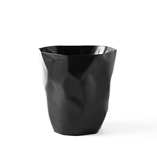 LOMJK Papeleras Bote de Basura de plástico de Basura de Diamante for el Dormitorio Sala de Estar Bote de Basura Bote de Basura de Cocina Bote de Basura Cubos de Basura (Color : Black)