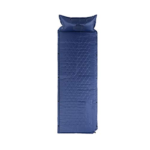 BENOHAOH Puede ser Empalme 1 Personas colchón Inflable Ultraligero Camping Almohadillas para Dormir al Aire Libre a Prueba de Humedad al Aire Libre Picnic Picnic, Pad Camping Tienda (Color : Blue)