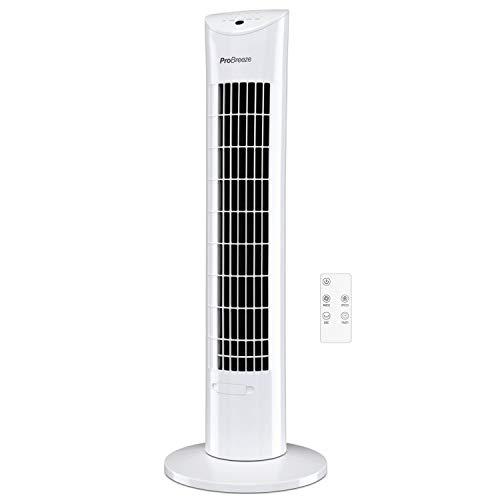 Ventilador de Torre oscilante de 30 Pulgadas con Motor ultrapotente de 60 W, Control Remoto, Temporizador de 7,5 Horas y 3 Modos de Ventilador de refrigeración para el hogar y la Oficina