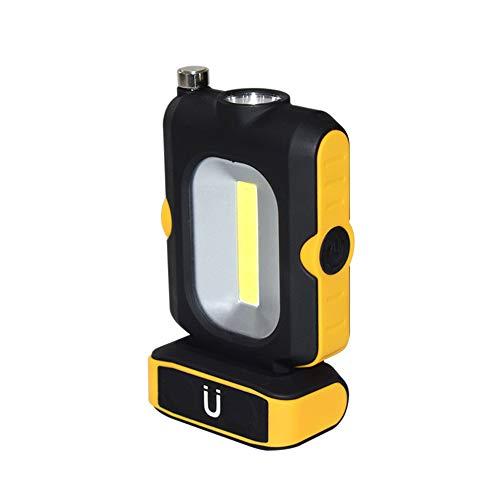 Luz de Trabajo LED, Linterna para Acampar TONWON, Luz de Inspección Alimentada por Batería con Imán y Antena Estirable Luz para el Hogar, Taller, Automóvil, Campamento, Uso de Emergencia - Amarillo