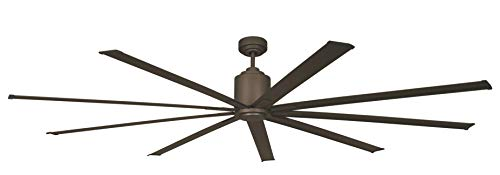 """Big Air 96"""" Industrial Indoor/Outdoor Ceiling Fan, 6 Speed with Remote, Oil-Rubbed Bronze"""