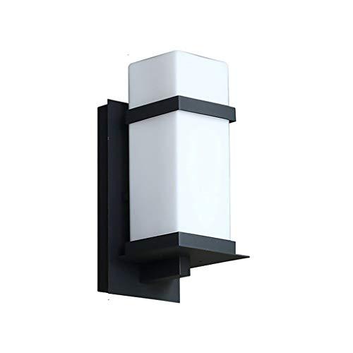 Waterdichte wandlamp voor buitenshuis, moderne wandlamp, waterdichte tuinverlichting voor buiten, wandmontage in klassieke stijl van metaal met glazen kap voor F