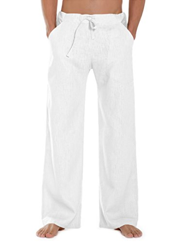 SCHAZAD Leinenhose Essential (XL, weiß)