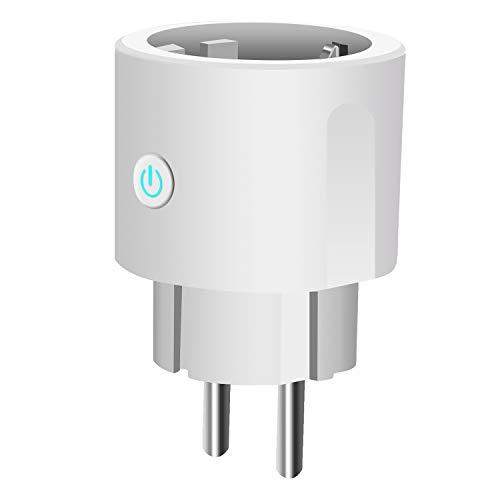 Enchufe Inteligente,WiFi Smart Plug Control remoto Funciona con Amazon, Alexa, Google Assistant e IFTTT, No Se Require de Hub, Función de Temporización (1 Pack)