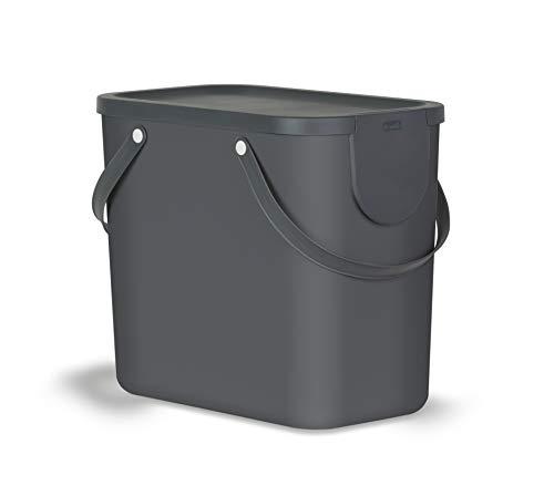 Rotho Albula Mülltrennungssystem für Küche / Mülleimer 25L / Kunststoff anthrazit 25 Liter