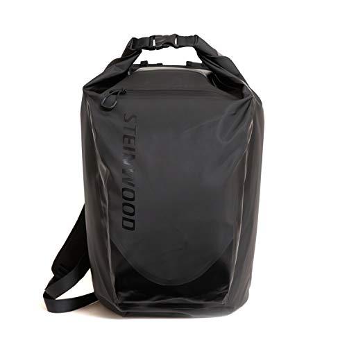Steinwood Waterproof Dry-Bag 35L Multifunktions-Rucksack - Roll-Top Outdoor-Backpack - Daypack wasserdicht mit Taschen für Laptop und Zubehör