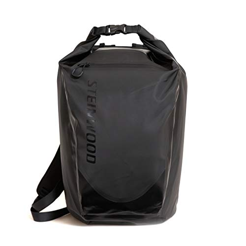 Steinwood Waterproof Dry-Bag 35L Multifunktions-Rucksack - Roll-Top Outdoor-Backpack - Daypack wasserdicht mit Taschen für Laptop und Zubehör