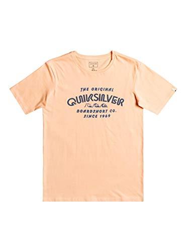 Quiksilver Wilder Mile, Camiseta Niños, Opacity, Albaricoque, M/12