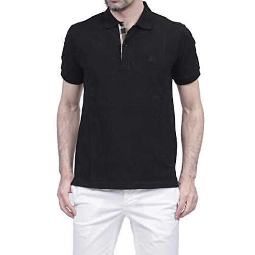 Burberry Brit - Polo de manga corta, color negro
