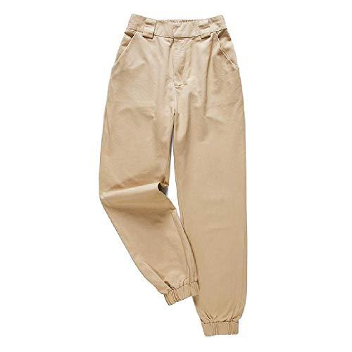 NOBRAND Pantalones de Mujer de Moda Pantalones Cargo de Cintura Alta Pantalones SueltosPantalones de chándal Pantalones de chándal Femeninos Streetwear