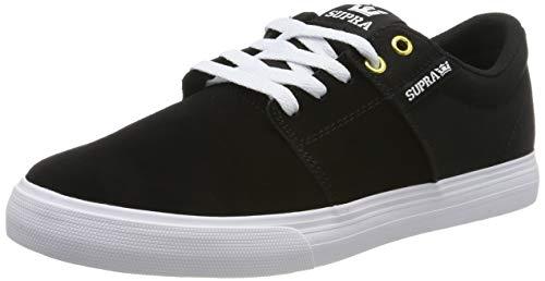 Supra Herren Stacks Vulc II Sneaker, Schwarz (Black/Black-White 044), 41 EU
