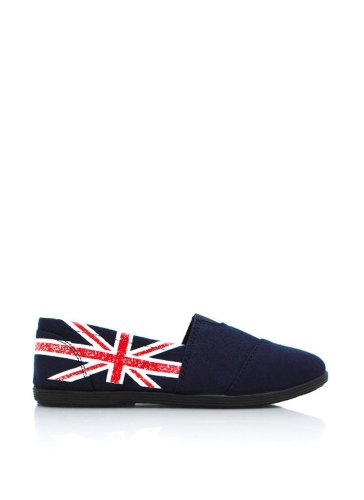 Soda 'Object' Womens Shoes Slip Ons Flats (Size 6) - Navy UK