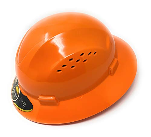 TRUECREST/HDPE Orange Full Brim Hard Hat with Fas-trac Suspension