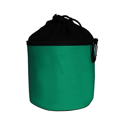 trendfinding Sacchetto Porta-mollette per bucato in Cotone - da Appendere - con moschettone - Verde