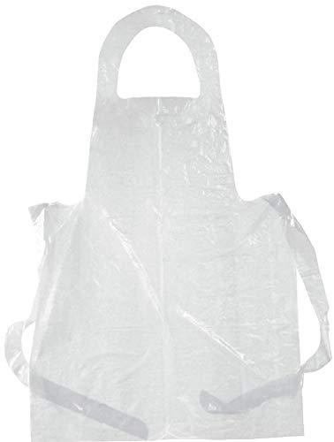 NaiCasy 50pcs monouso Cancella polietilene Impermeabile USA E Getta Grembiuli per Cucinare, servire, la Pittura o Lavaggio delle stoviglie