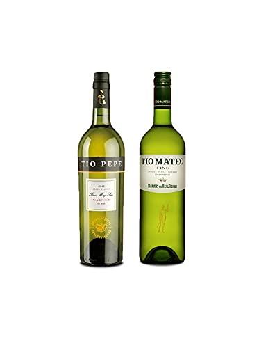 Vino palomino Fino Tío Pepe de 75 cl y Vino Fino Tío Mateo de 75 cl - Mezclanza Exclusiva