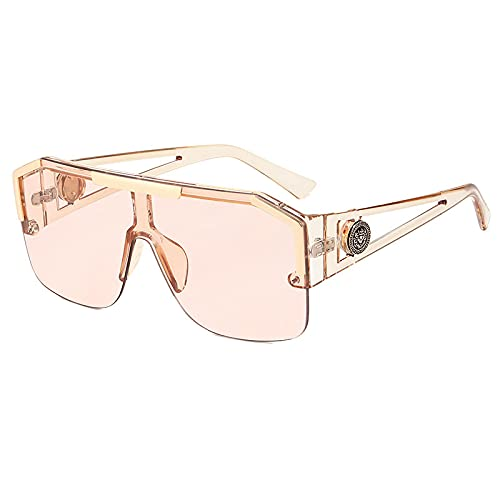 NBJSL Gafas De Sol De Montura Grande Para Hombres Y Mujeres Gafas De Sol Con Protección Uv400 (Caja De Embalaje Exquisita)
