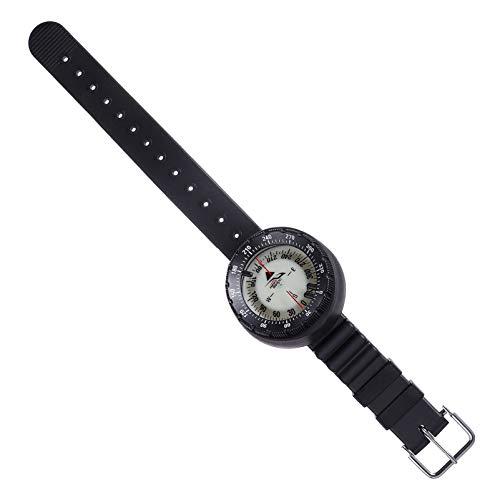 LIOOBO 手首コンパス防水ストラップ発光ダーク時計コンパスポータブルハイキングキャンプナビゲーションツール13x6cm