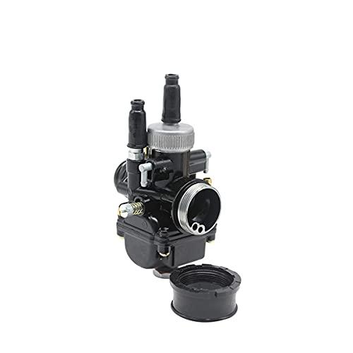 TYTG Carburador Carburador de reconstrucción Kit Negro carburador Rojo 50CC 90CC BWS100 para Motocicleta 17mm 19 mm 21mm Accesorios de Auto (Color : Black 21mm)