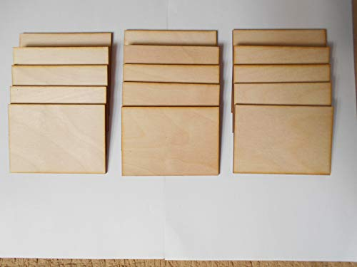 Birkensperrholzplatten, A7, 3 mm dick, ideal für Pyrogaphy, Modellbau Basteln, 15 Stück