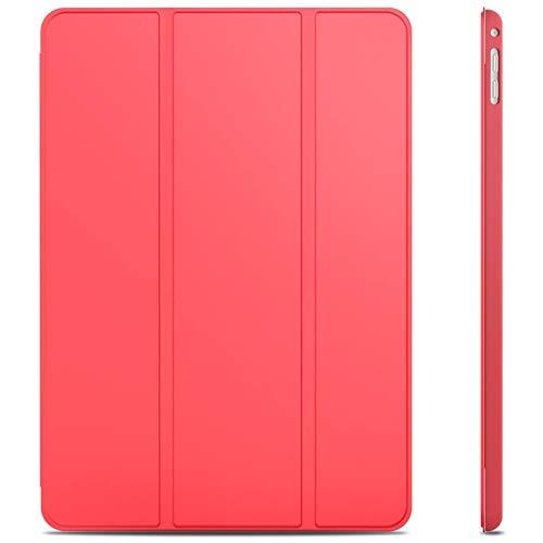 JETech Hülle für iPad Air 2, Schutzhülle mit Ständer Funktion & Auto Einschlafen/Aufwachen, Rot