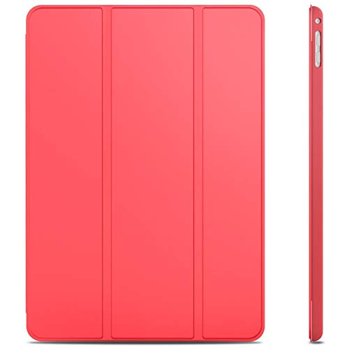 JETech Case for iPad Air 2 (Not for iPad Air 1st Edition), Smart Cover Auto Wake/Sleep, Red