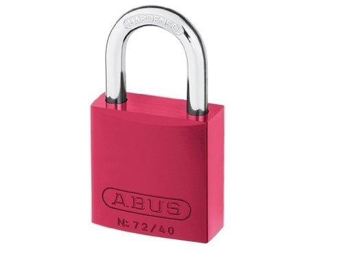 ABUS Aluminium-Vorhangschloss 72/40 rot 43602