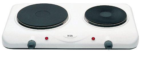 White And Brown PC 454 Réchaud électrique 2 plaques 1500 + 750 W blanc
