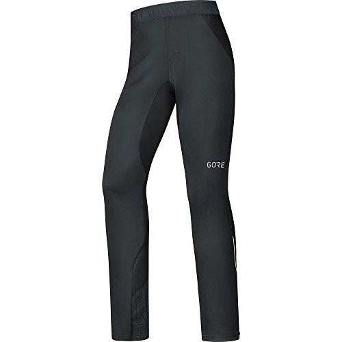 GORE WEAR Pantalones Cortavientos de Ciclismo para Hombre, C5 Gore Windstopper Trail Pants, L, Negro, 100375