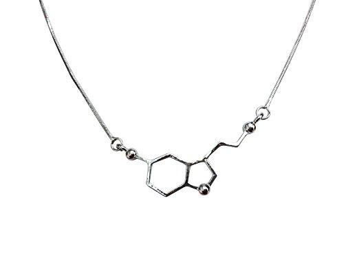 Orion Creations Breaking Bad. Serotonin Molekül Halskette. Silberton