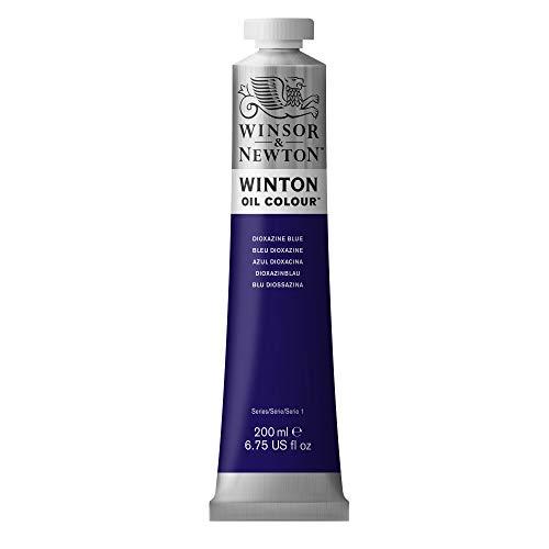 Winsor & Newton Winton Colore a Olio, Diossazina Blu, 200ml