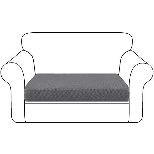 Granbest Funda de cojín para asiento de sofá espesada resistente funda para sofá protección para muebles individuales cojines (2 plazas, gris cielo)