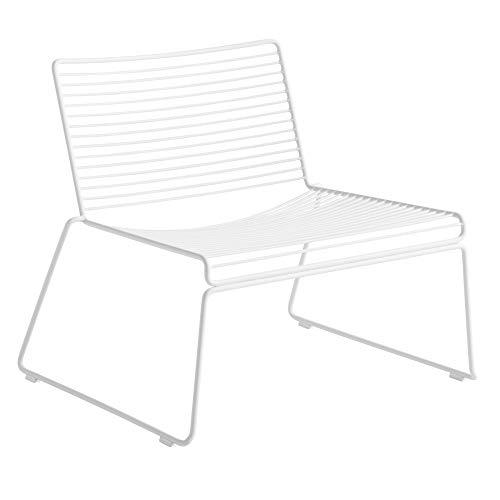 HEE Lounge Stuhl, Weiss pulverbeschichtet 72x67x67cm Sitzhöhe: 37cm für Innen- und Außerbereich geeignet