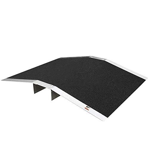 NeoMcc Rampa para Pasos de Piedra Multifunción Rampa de umbral de Aluminio Arqueado Rampa de Puerta Silla de Ruedas Puerta de Acceso Puerta Anti resbalón Rampa Rampa para Silla de Ruedas