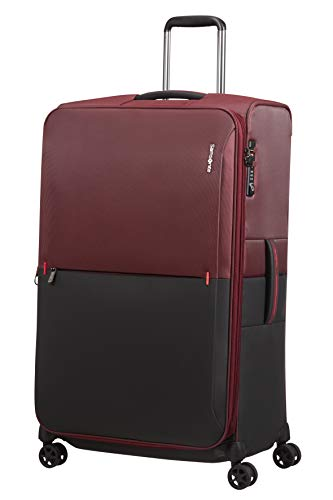 Samsonite Rythum - Spinner L Expandible Maleta, 79 cm, 108/114 L, Multicolor (Burgundy)