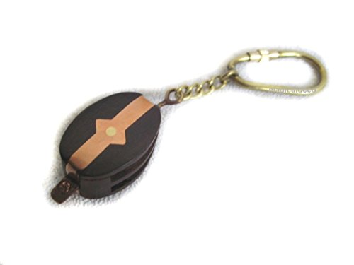 2X Schlüsselanhänger/Ring - maritim- Holz, Messing, Tau, Kupfer