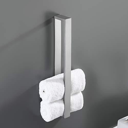 Amazon Brand - Eono Handtuchhalter ohne Bohren Edelstahl SUS304 Handtuchregal Handtuchring Selbstklebend Handtuch Halter Bad Gästehandtuchhalter 40cm Gebürstet, A23000S40DM-2