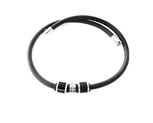 Kautschukhalsband, Halskette, Kautschukcollier mit Magnet-Bajonetverschluss, COl 017, versch.Laengen, ca. 5 mm Durchmesser (45 Zentimeter)