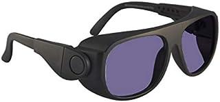 عینک کاری شیشه ای شعله ای پلی کربنات در قاب ایمنی سیاه با بازوی جانبی قابل تنظیم