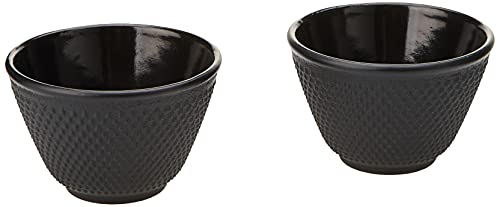Avanti Hobnail Cast Iron Tea Cup Set, Black, 15109